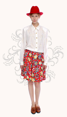 RED FLOWER CULOTTES