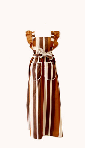 BROWN STRIPES APRON