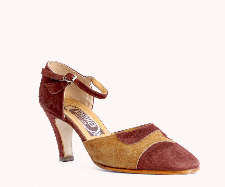BROWN SUEDE PUMPS / 39