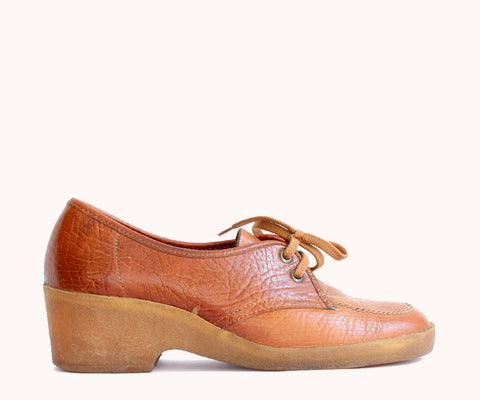 BROWN LACE-UP SHOES / 38