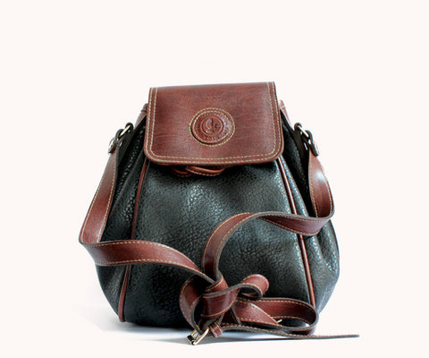BLACK BROWN DUFFLE BAG