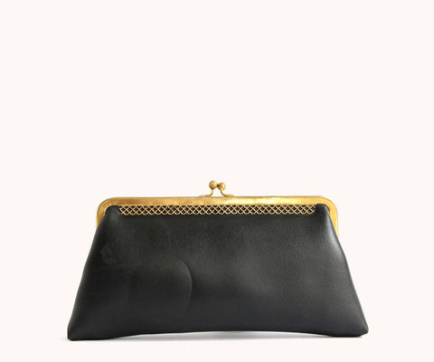 BLACK GOLDEN PURSE