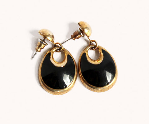 BLACK&GOLDEN EARRINGS