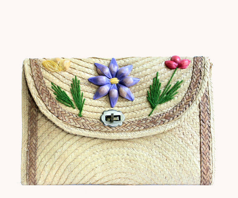 FLOWER STRAW BAG