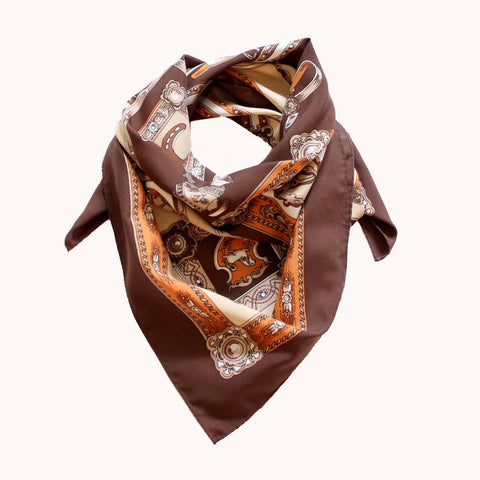 BROWN RIDING SCARF
