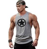 Star Circle Gym Tank Tops Men