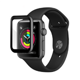 Apple Watch 42mm - Edge-to-Edge Black Trim Tempered Glass
