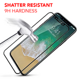 Apple iPhone XS Max - Edge-to-Edge Trim Tempered Glass (Black, White or Clear)