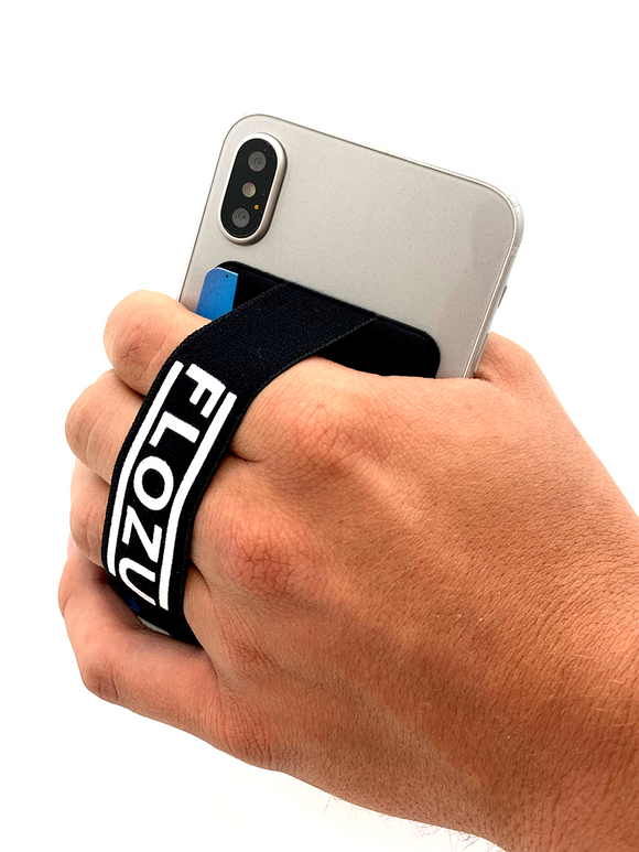 FLOZU Smarthphone Fingerstrap / Wallet Combo
