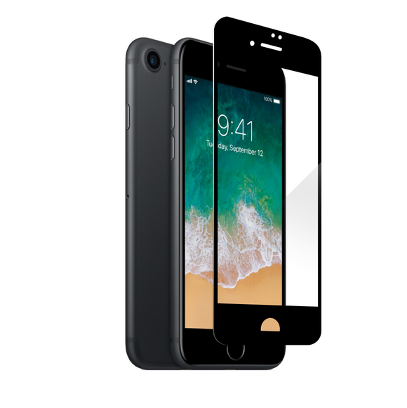 Apple iPhone 8 - Edge-to-Edge Black Trim Tempered Glass