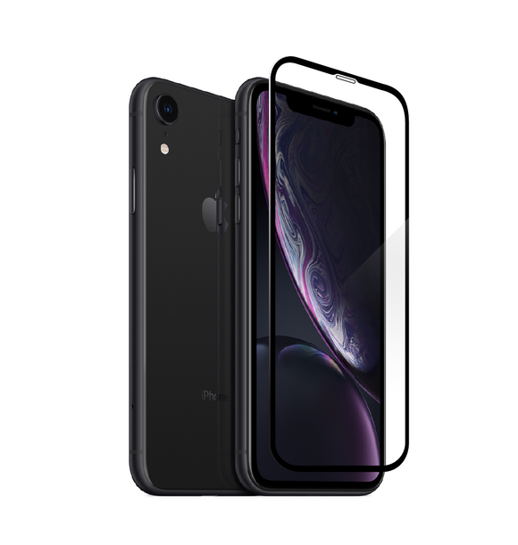 Apple iPhone XR - Edge-to-Edge Trim Tempered Glass (Black, White or Clear)