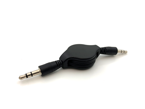 Retractable 3.5 mm Male to Male Stereo Audio Aux Cable