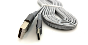 REDLINE - 2m (6 ft) Nylon-Braided USB-C / USB-A Charging Cable
