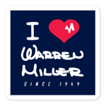 I Heart Warren Miller Sticker