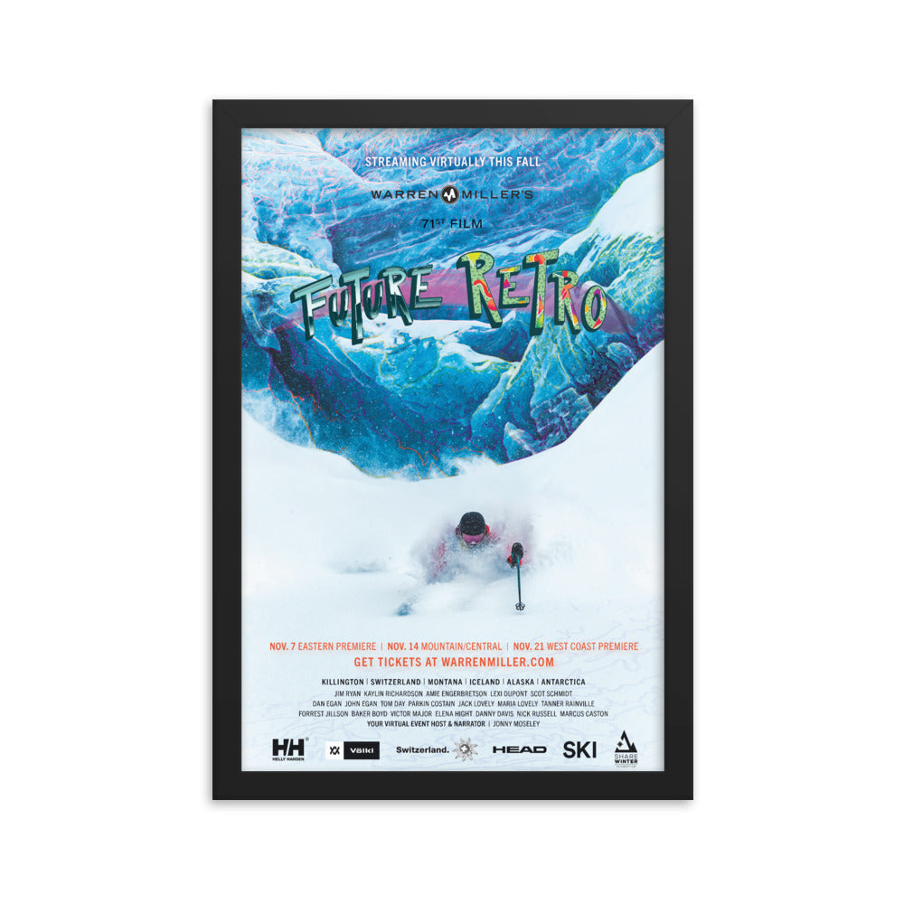 Future Retro 2020 Framed Poster