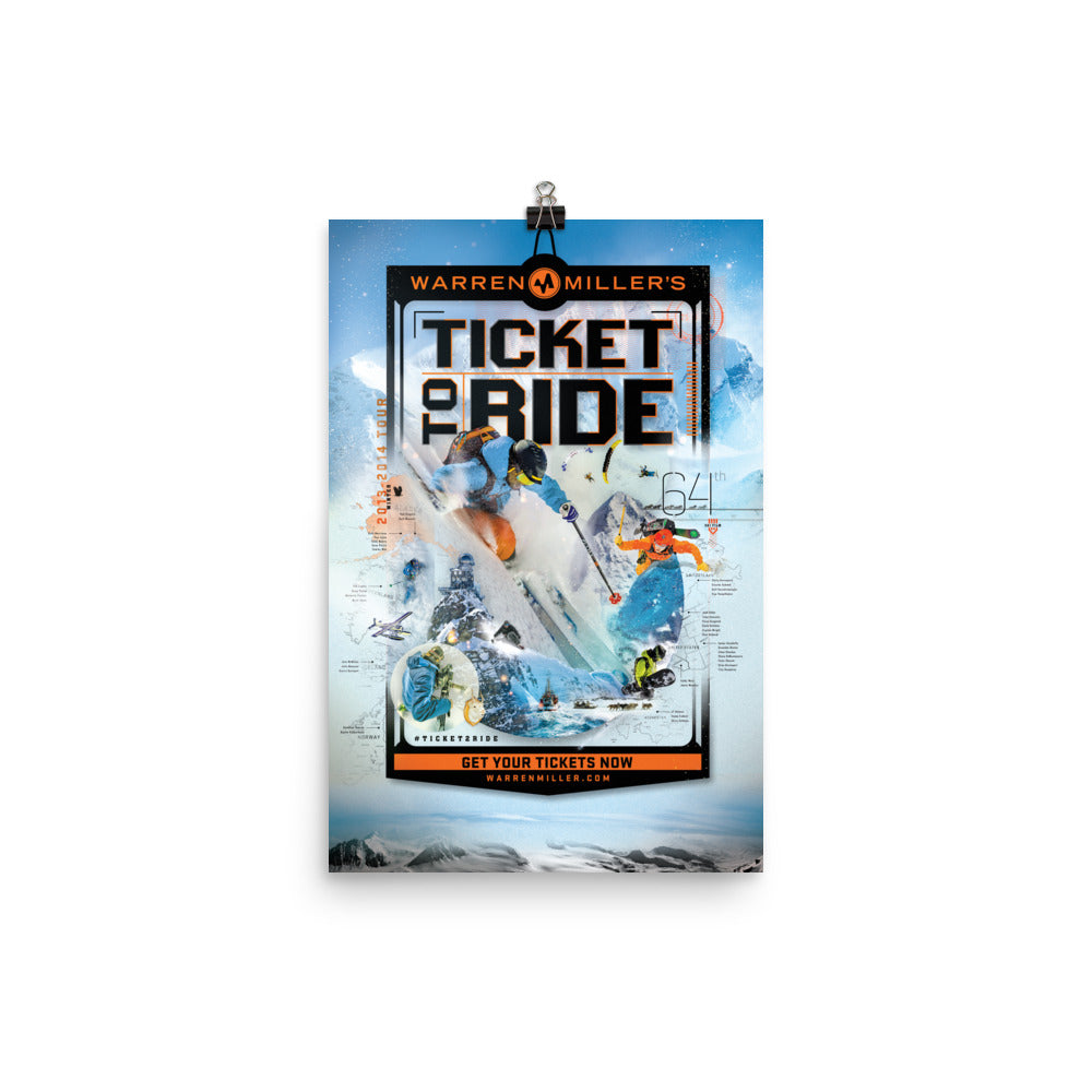 Ticket to Ride (2013) Poster Print- 12x18
