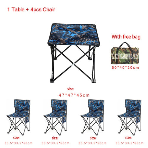 5 in 1 Camping Hiking Outdoor Fordable Chair and Stool ( 4pcs
