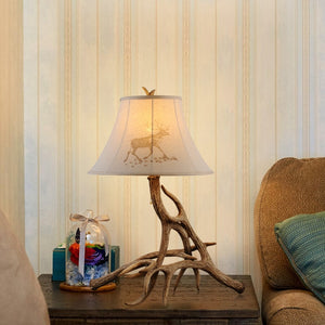 American Country  Deer Horn Lamp