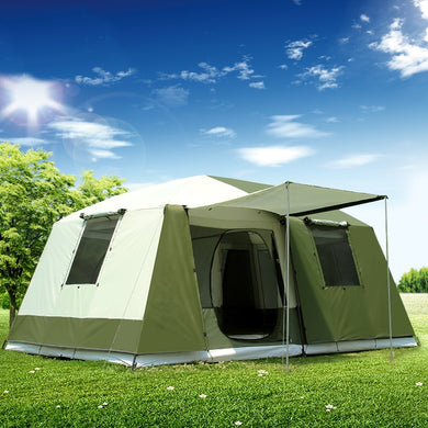 10 Persons double layer 2 Rooms  family  camping tent