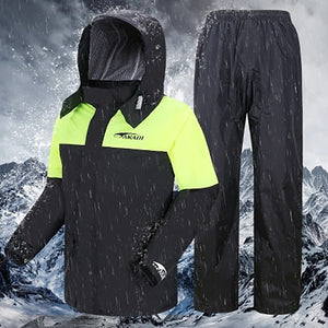Motorcycle Rain Coat with Pants  Men Women Cycling Suit  Raingear