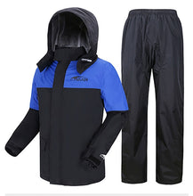 Load image into Gallery viewer, Motorcycle Rain Coat with Pants  Men Women Cycling Suit  Raingear
