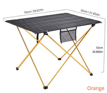 Load image into Gallery viewer, Brown aluminum folding table camping and chair