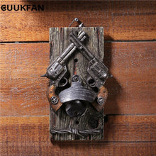 Load image into Gallery viewer, Vintage Beer Opener Western Bar Wall Decor Double Gun Bottle Opener Decoration Wall Hanger Gift