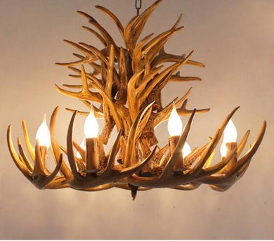 9 Head Candle Antler Chandelier   Horn Lamps Home Decoration
