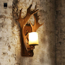 Load image into Gallery viewer, Deer Horn Antler Wall Lamp Fixture Retro Vintage  for Home Bedroom Bedside