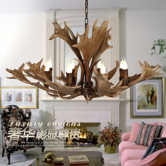 Europe Country 8 Head Chandelier  Caribou  Chandelier