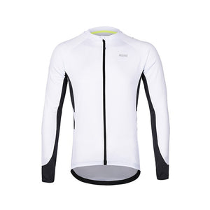 ARSUXEO Men's  Full Zipper Cycling Jersey