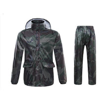 Load image into Gallery viewer, Adult Camouflage Raincoat Suit  Women/Men   Fishing And Hunting