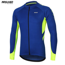 Load image into Gallery viewer, ARSUXEO Men's  Full Zipper Cycling Jersey
