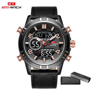 Sport Watch Man Quartz LED Digital Clock Waterproof