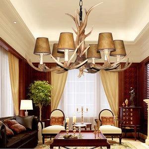 4/6/8/10 Heads living room deer horn candle chandeliers