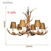 Load image into Gallery viewer, 4/6/8/10 Heads living room deer horn candle chandeliers