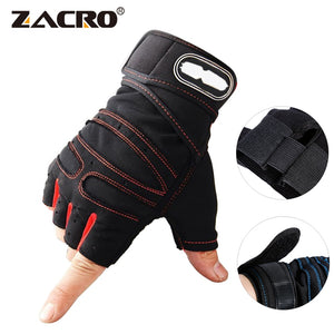 Zacro Weight Lifting Gloves 3D Gym Fitness Gloves Heavyweight Sports Exercise Body Building Training Sport Fitness Gloves M-XL