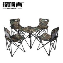 Load image into Gallery viewer, Folding Table Portable Picnic Chair Camouflage BBQ Beach table