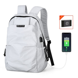 New School Fashion Men Backpack Bag Water Proof Backpack External USB Charge Rucksack