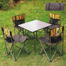 Load image into Gallery viewer, Folding tables and chairs outdoor portable light picnic table