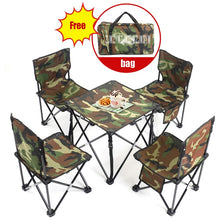 Load image into Gallery viewer, 5 in 1 Camping Hiking Foldable Chair Table Set Fishing Picnic BBQ