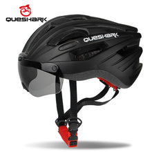 Load image into Gallery viewer, Windproof Bicycle Helmet  with Goggles Removable Lens