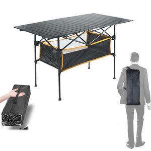 Outdoor Folding Table and chair with caring case makes it nice to pack it away