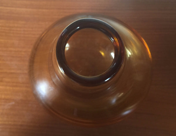 Unusual and weightly amber Whitefriars bulb vase with uneven base 1960s/70's