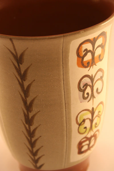 Strikingly beautiful Bourne Denby studio ceramic vase decorated and signed by Glyn Colledge - Wowie Zowie  - 2