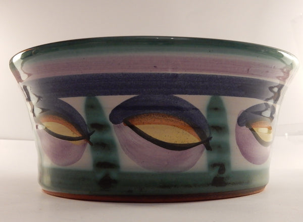 Beautifully hand painted glazed earthenware planter/bowl Tintagel Studio Pottery - Wowie Zowie  - 1