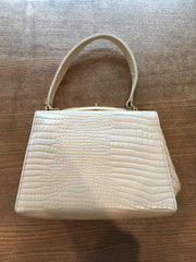 Fabulously chic real leather handbag, 1960's.