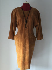 SALE - Was £40 Super cool Suede Emily Daniell dress 1980's
