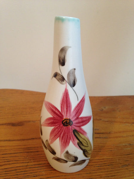 Cheerfully sweet 1950s ceramic handpainted vintage bud vase by Radford pottery - Wowie Zowie  - 1