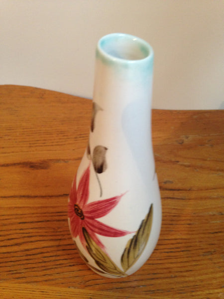 Cheerfully sweet 1950s ceramic handpainted vintage bud vase by Radford pottery - Wowie Zowie  - 3